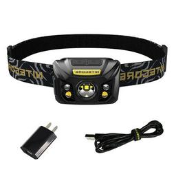NITECORE NU32 550 lm LED Rechargeable Headlamp w/ White & Re