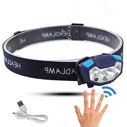BESTSUN Outdoor Headlamp Inductive Headlamp Mini Rechargeabl