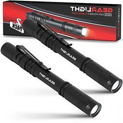 GearLight LED Pocket Pen Light Flashlight S100  - Small, Min