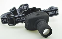 1 Pack 500 Lumens Q5 LED Flashlight Headlamp Headlight 3 Mod