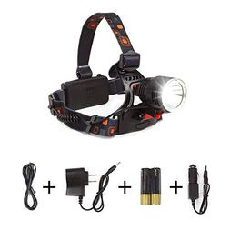 LIGHTESS Led Head Lamps Rechargeable Cree Headlamp Flashligh