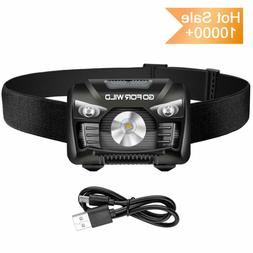 Rechargeable Headlamp, 500 Lumens White Cree Led Head Lamp F