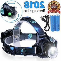 Rechargeable Headlamp, Hard Hat Light - LED Headlight Lamps