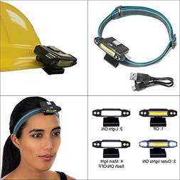 Rechargeable Headlamps for Camping Hiking - LED Hard Hat Lig