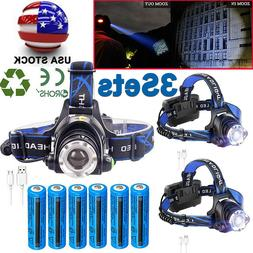 Rechargeable Tactical 350000LM LED Headlamp Quality Headligh