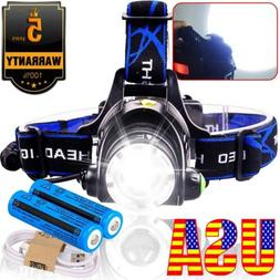 Rechargeable Tactical 350000LM  LED Headlamp 186*50 Headligh