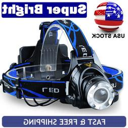 Rechargeable Tactical 350000LM T6 LED Headlamp Power Headlig