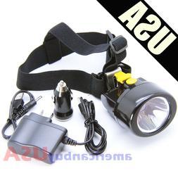 Lithium LED Light Head Lamp Mining Lamp Miner Camping Hiking