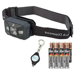 Black Diamond Storm Waterproof Headlamp  Bundle with 4 Extra