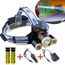 Super Bright 900000LM 3X T6 LED Headlamp Rechargeable 18650