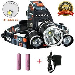 Super Bright Headlamp 15000 Lumens Best 3 T6 CREE LED Lamp B