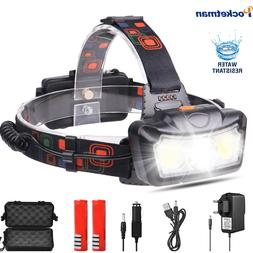 Super Bright LED <font><b>Headlamp</b></font> T6+COB LED Hea