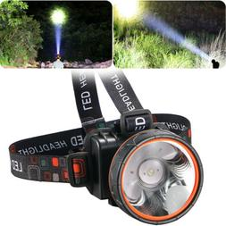 Super Bright LED Headlamp Rechargeable Headlight 5000 Lumens