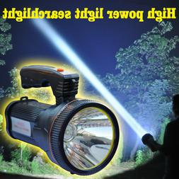 Super bright searchlight handheld portable spotlight led rec