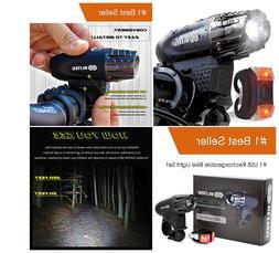 Super Bright USB Rechargeable Bike Light - Blitzu Gator 320