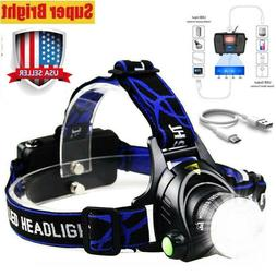 SuperBright  LED 90000Lumens Headlamp Headlight Flashlight