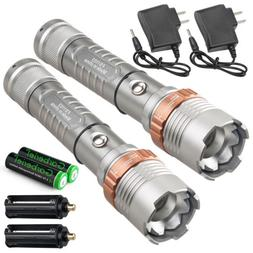 Tactical Police 900000LM T6 LED 5Modes Rechargeable Flashlig