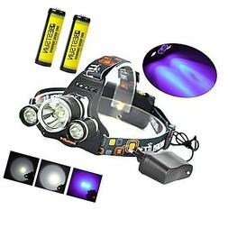 BESTSUN Tactical Blacklight Headlamp UV-Ultraviolet LED (1x