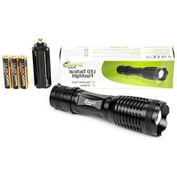 LED Tactical Flashlight by Shining Buddy | 5-Mode Military F