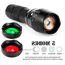 LED Tactical Flashlight Super Bright 20000LM XM-L T6 with 5