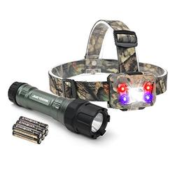 MOSSY OAK Tactical LED Flashlight Shock-proof 300 Lumens and