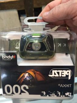 Petzl TIKKA Headlamp 200 Lumens Green E93AAB