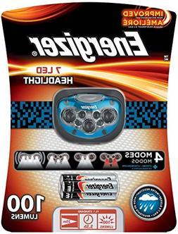 Energizer Trail Finder Pro 7 LED Headlamp, Blue/Black, 3AAA