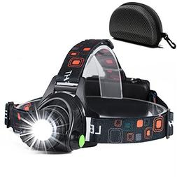 NEWEST Ultra Bright Headlamp Flashlight,3 Modes High Lumen I