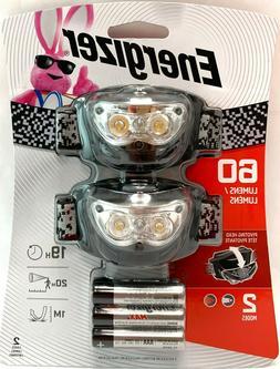 Energizer | Universal Headlight | 60 Lumens | LED | 2 Pack |
