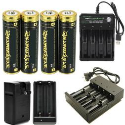 USA Skywolfeye 3.7V li-ion Rechargeable Batteries For Flashl
