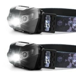 usb recharge sensor headlight waterproof led head