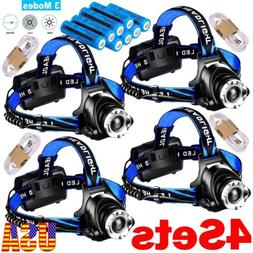 Rechargeable 350000LM Headlight LED Headlamp Tactical Head T
