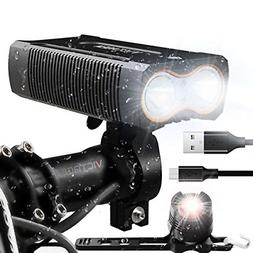 Victagen USB Rechargeable Bike Light,Super Bright 2400 Lumen