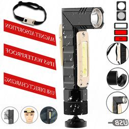 USB Rechargeable Flashlight LED Work Light Headlamp Headligh