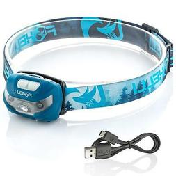 Foxelli USB Rechargeable Headlamp Flashlight - 160 Lumen, up
