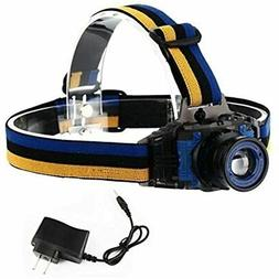 UV LED Headlamp Zoomable 3 Modes 395-410nm Ultraviolet Black