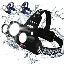 NEWEST And BEST Version Headlamp, Brightest Head Lamp Provid