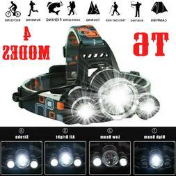 Waterproof 90000LM 3X T6 LED Headlamp Headlight Flashlight H
