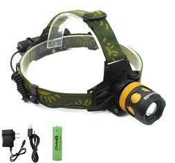 Genwiss Waterproof Head Flashlight Led Headlamp Headlight Ba