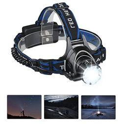 Mifine Waterproof LED Headlamp with Zoomable 3 modes 1000 Lu