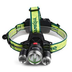 10000LM Waterproof Headlamp CREE XM-L 3 x T6 LED Adjustable