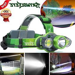 15000LM Waterproof Headlamp XM-L T6+2X COB LED Rechargeable