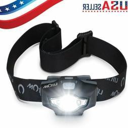 LITOM Waterproof Headlight COB LED Headlamp Fishing Camping