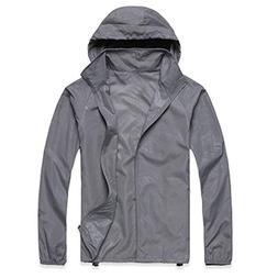 Realdo Womens Mens Waterproof Jacket, Lightweight Windbreake