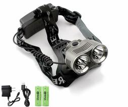 Genwiss Waterproof LED Head Flashlight Headlamp Headlight Ba