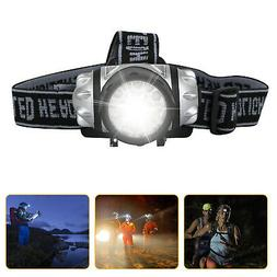 Waterproof LED Head Flashlight Headlamp Headlight Battery Ca