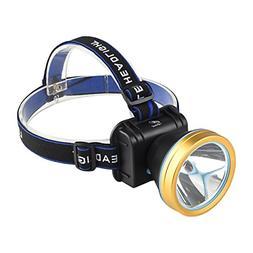 Waterproof LED Head Flashlight Headlamp Headlight Rechargeab