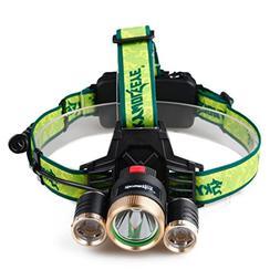9000LM Waterproof 3X XML T6+2R5 LED Headlight Super Bright H