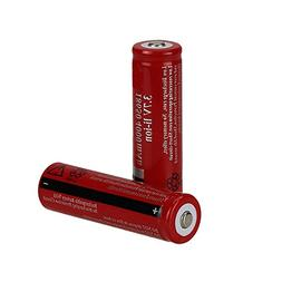 ON THE WAY®Rechargeable RED 2Pcs 3.7V 4000mAh BRC18650 Prot