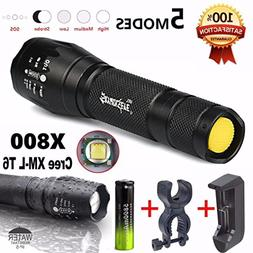 X800 Flashlight LED Zoomable Military Torch G700 SkyWolfeye